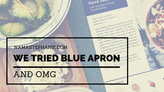 Meatless Monday: We Tried Blue Apron and OMG